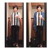 アラ還 ぽっちゃり 骨格ストレート コーデ「秋色の夏服と無印良品のストール」