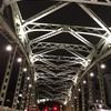 夜の萬年橋と清洲橋
