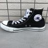【100均】足がすぐ入らない!--ハイカットのスニーカーは靴紐を『伸びる靴紐』にして快適!【コンバースオールスター】
