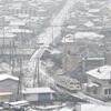 県内、山間部を中心に積雪 交通機関乱れ、休校も