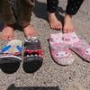 田植え用の子供靴は「インソール靴下」を毎年自作しています