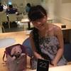 ナナズグリーンティーさんイクスピアリ店で黒ごまわらび餅パフェ〜☆*:.。. o(≧▽≦)o .。.:*☆