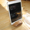 kr252 6amLifestyle iPhoneスタンド スマフォンスタンド 木製スピーカー携帯ホルダー 置くだけ