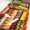 懇親会でチームは仲良くなるか…どうかはともかく寿司は美味い