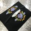 ミニテッシュケースにリボン刺繡