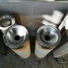 井出町役場の駐輪場に放置されていた違法灰皿が撤去