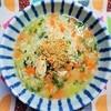 【風邪によい食事】鶏ささみと春菊の雑炊の作り方。