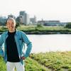 多摩川河川敷での運動系撮影