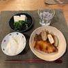 ごはん、ブリの照り焼きと蓮根とネギ、豆腐とほうれん草ののり和え