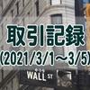 2021/3/1週の米国株オプション取引(確定利益$1,334、含み損$-15,634)