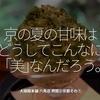630食目「京の夏の甘味はどうしてこんなに「美」なんだろう。」大極殿本舗 六角店 栖園@京都その⑥