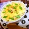 出汁薫る筍と茸の豆乳マカロニグラタン
