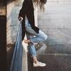 穿牛仔褲時請混搭不同的材質@熟齡女性的牛仔褲穿搭(三)