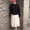 【GU】イージーレースプリーツスカート