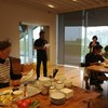 大木町の食材を使った料理教室で、交流センターの意見交換