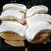 冷凍ポテトと大阪王将の羽根つき餃子をホットサンドメーカーで焼いたらできた何か
