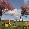伊達市 高速・有珠サービスエリア上り線の景色(春)