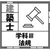 【資格】一級建築士試験~学科Ⅲ(法規)~