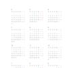 年度カレンダー 2018年度版