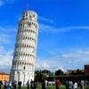 予想を超える傾斜を見せるピサの斜塔