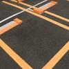 駐車場 枠に確実に収めましょう