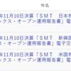SMT 新興国債券/日本株配当貴族/米国株配当貴族インデックス・オープン運用報告書(2020年11月10日決算)が交付