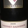 Cabernet Sauvignon Torys Block Echo Valley Mendocino County California Valentine Vineyards 2006