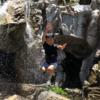 【田舎遊び】わんぱーくこうちで滝あそび。これが噂の【鯉モッシュ】!アイスクリンを食べて熱中症予防。
