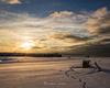 【冬の流木探し】雪の積もる海岸はまるでホワイトビーチ
