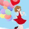 【イラスト017】風船に思いを込めて