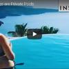 ギリシャサントリーニ島のプール付き絶景ホテルでの休日
