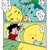 【子育て漫画】3対1とは卑怯なり!!おぶったままで忍者と闘った話