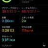 AppleWatchSeries3といっしょ!③〜初ワークアウトとバッテリー消費〜