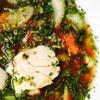 香草たっぷりのトムヤムクン風スープ