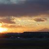 羽田空港展望デッキ 夕日 Tokyo International Airport