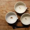 やさしい手触りとコロンとした形のどうぶつスープカップ|三木あゆみ