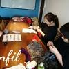 レッスンレポート)1/14 本川町教室 ショール編みにはまっています