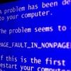 恐怖のエラーメッセージが出ました。パソコンを再起動しました。