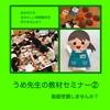 【動画セミナーⅣ うめ先生の教材セミナー②