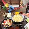 アヒージョ(簡単レシピ)とバーベキュー ウッドデッキ編