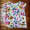 子供服をハンドメイド☆花柄のチビ袖Tシャツ