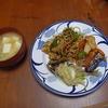 幸運な病のレシピ( 186 ) 朝:豆アジのマリネ、鶏唐揚げ仕立直しの「もやし」炒め(豚挽肉ソース)、鮭焼きびたし風、地元豆腐のみそ汁