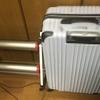 ミノウラモッズローラーを折りたたむとスーツケースより小さなサイズ。