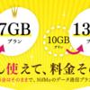 NifMoお値段そのまま容量増量!5GB→7GB/10GB→13GBへ!実質値下げ