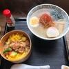 『御食事処 花善』②「比内地鶏塩ラーメン+鶏めしセット」秋田県大館市