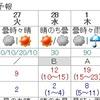 1日天気崩れる