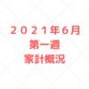 【家計管理 結果 検証】2021年6月 第一週 家計概況
