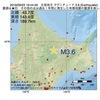 2016年09月22日 19時44分 北見地方でM3.6の地震