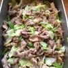 豚肉と高原キャベツ、モロッコインゲンの柚子胡椒マヨ仕立て