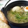便利すぎる田舎鍋でぶっこみスープを作りました。